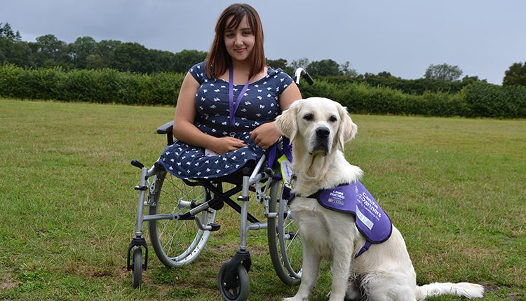 Marie and her canine partner assistance dog Travis