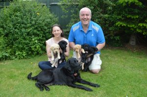 BBH Sarah and husband with Pebbles litter