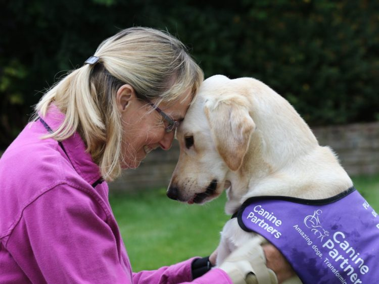 Partnership Kate and her assistance dog May head to head