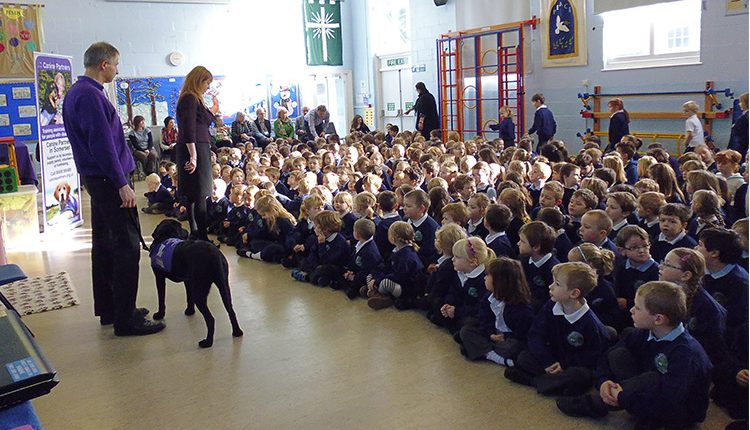 A Canine Partners charity talk to Greenfylde School pupils