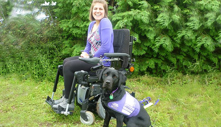 Natalie Preston and her canine partner Faye who helps her to do everyday tasks