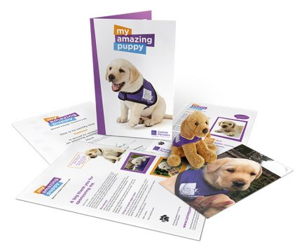Canine Partners dog sponsorship pack My Amazing Puppy