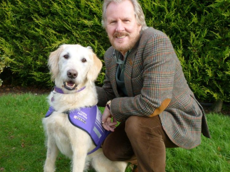 Actor David Robb with Canine Partners assistance dog Zack