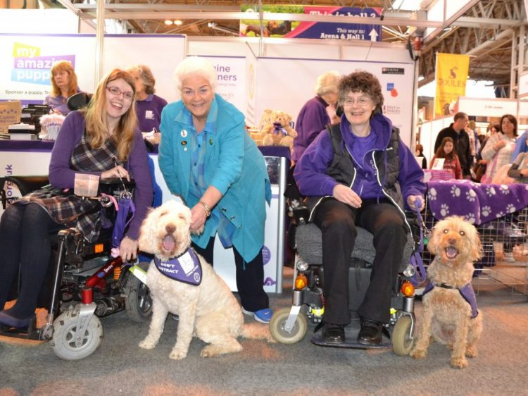 Actress Pam St Clement with Katy Evans and Folly, and Lizzie Dyche and Harvey-Nics