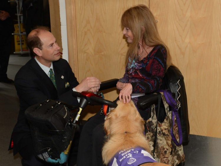 HRH The Earl of Wessex with Denise Hayes and Quaver