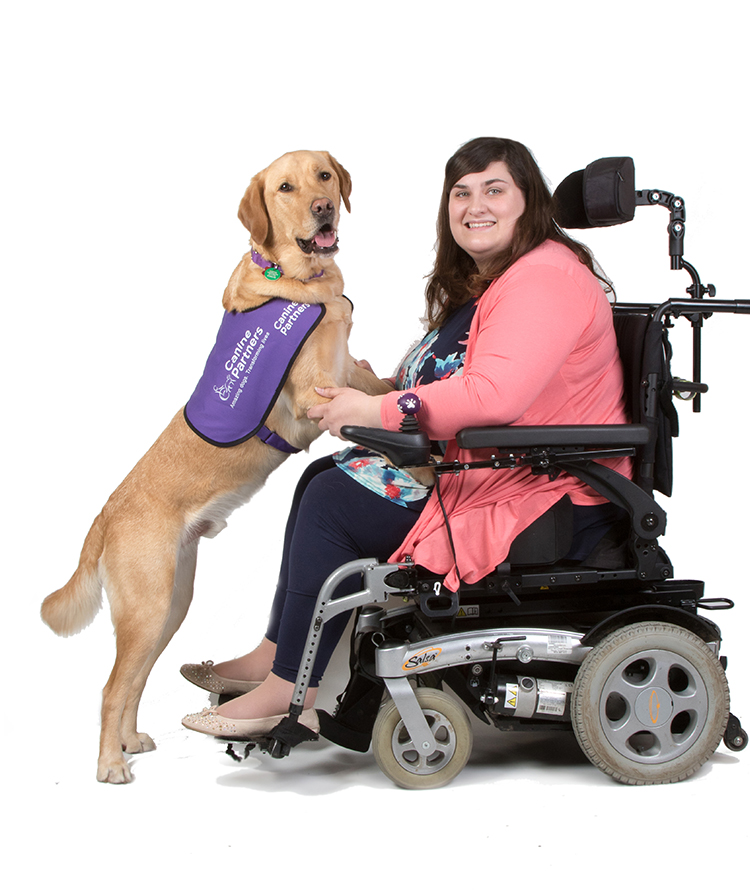 Assistance dog Griffin with Clare