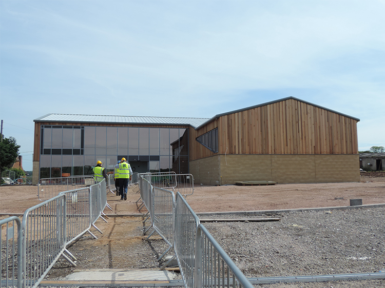 Canine Partners Midlands Centre in June 2014 under construction
