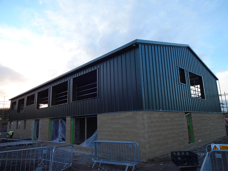 Canine Partners Midlands training centre in Leicestershire in March 2014 having windows installed to the new building