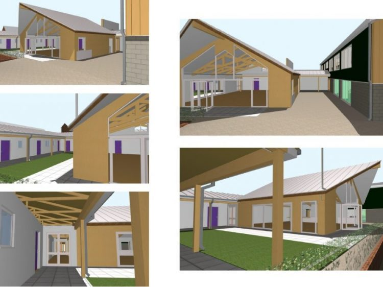 Architect drawing of the accommodation at Canine Partners assistance dogs training centre in the Midlands