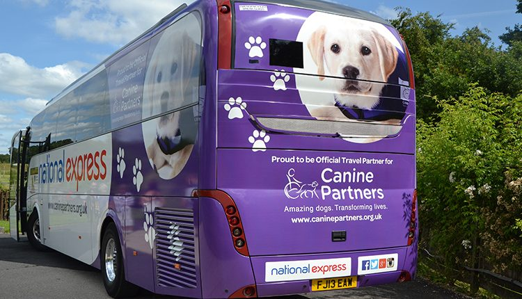 Canine Partners branded National Express coach