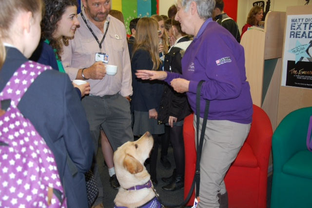Canine Partners assistance dog and handler at Crofton School