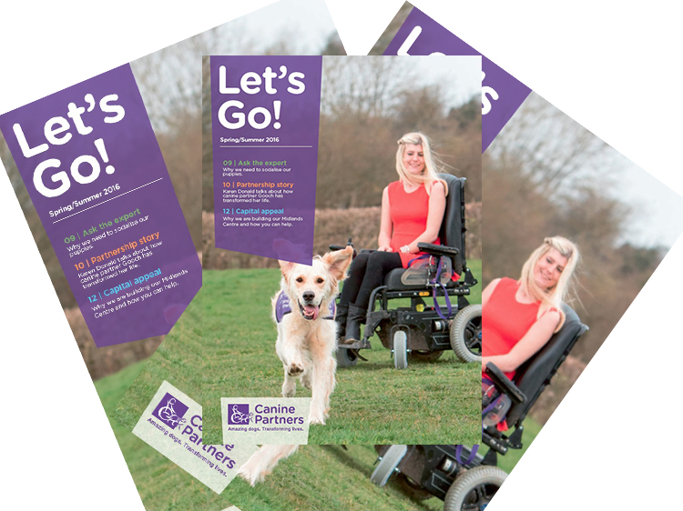Canine Partners Let's Go magazine available to download from website