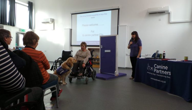 Canine Partners Midlands Centre Information Session with partnership Pat and Ella doing a talk
