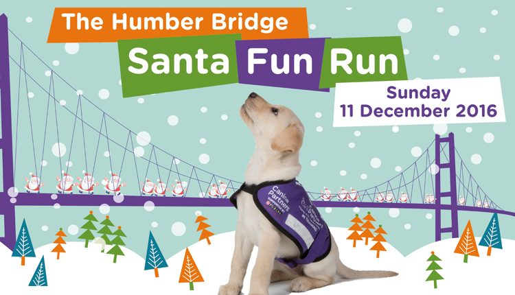 Canine Partners Santa Fun Run Humber Bridge event 2016