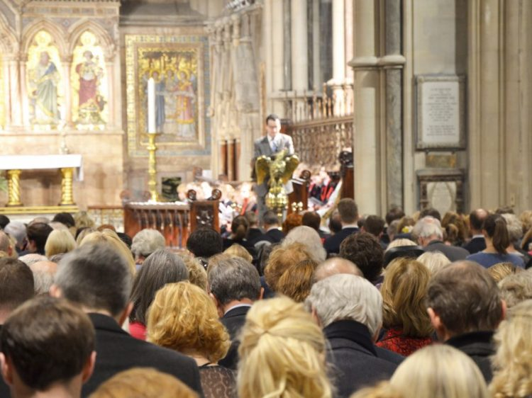 Audience at Draycott Carol Service, St Mary Abbots Church