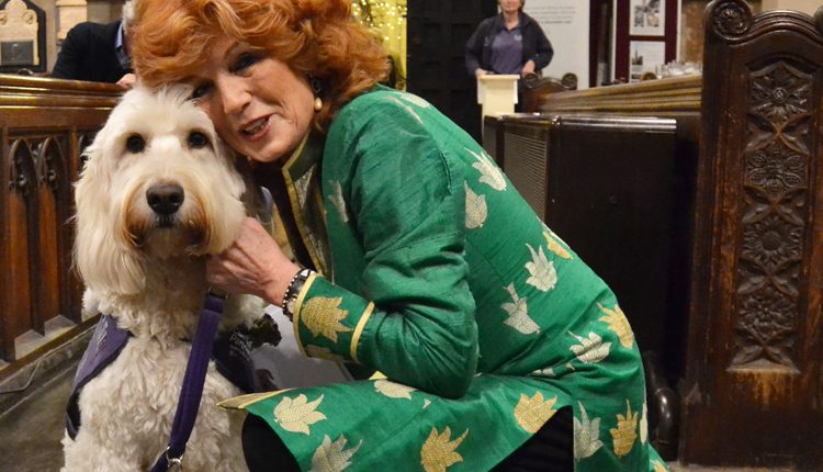 Rula Lenska and demo dog Rio