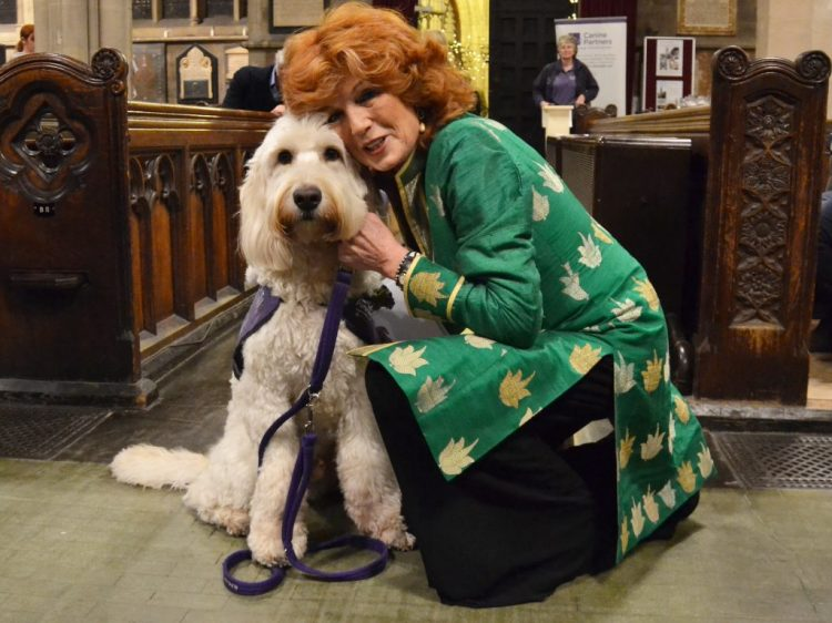 Rula Lenska and Canine Partners demo dog Rio
