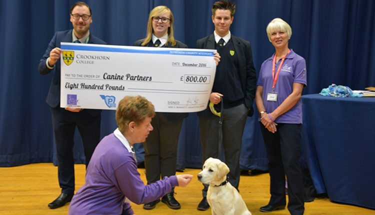 Crookhorn College raises £800 for Canine Partners