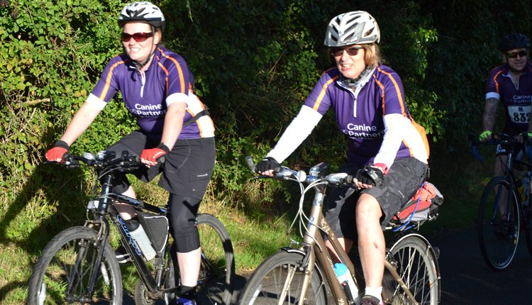 Cycling event for Canine Partners Midlands Centre, Loughborough