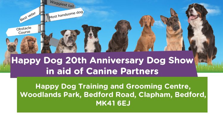 Canine Partners Happy Dog 20th Anniversary Dog Show event Bedford