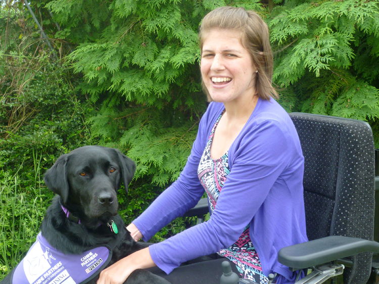 Natalie Preston with canine partner Faye