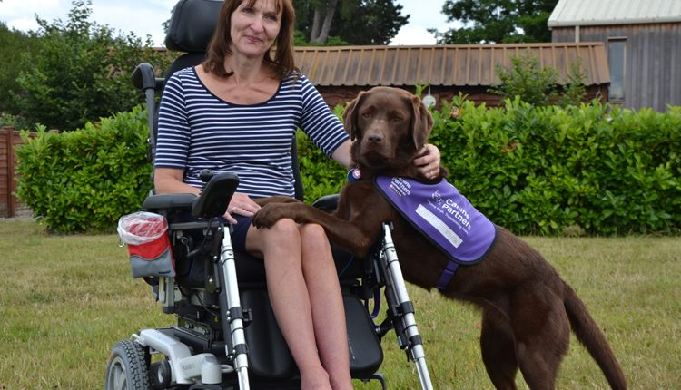 Jackie and canine partner assistance dog Babs