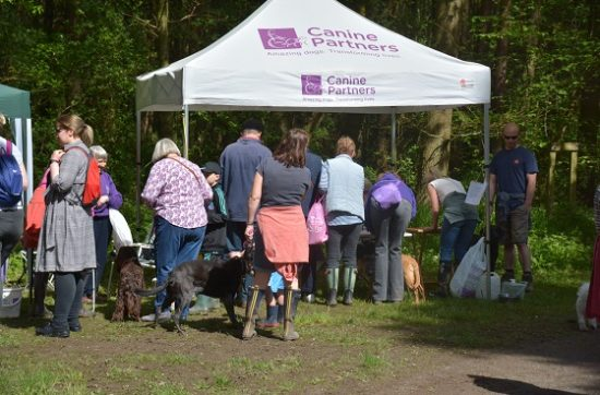 Canine Partners stall at Martinshaw Wood