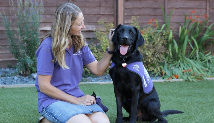 Canine Partners puppy parent Rachel MacDonald and puppy-in-training- Morley
