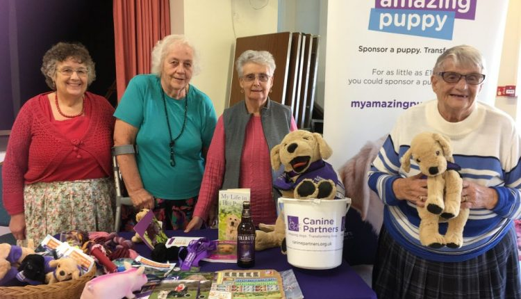 The Widows Club Fair Oak Southampton supports Canine Partners
