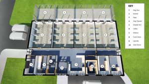 Architect's view of new kennel block design for midlands centre