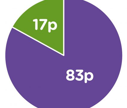 Spending pie chart (published 2020)