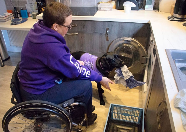 CP Liggy helping Nikki with laundry